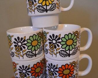 Set of 5 Stacking Mugs, made in Japan
