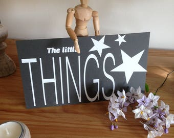 """""""The little Things"""" decal"""
