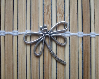 1 metal silver colour Dragonfly charm