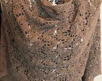 Lacy Alpaca Crochet Shawl