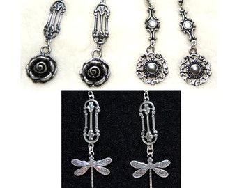 Style Choice - Antiqued Silver Pierced Dangle Earrings