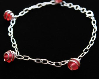 Glass Bead Anklet (various bead color options)