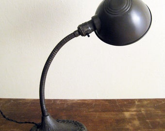 RESERVED Art Deco Gooseneck Lamp