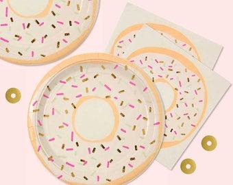 Donut Party Napkin, Meri Meri Donut Paper Napkins (16), Doughnut Party Napkins, Donut Birthday Party, Brunch Napkins, Donut Brunch