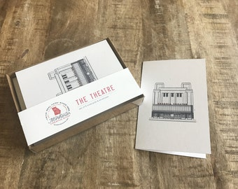 Georgia Theatre Notecards & Envelopes - Set of 8 - 4x6""