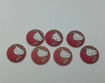 cabochon is Hello Kitty 20 mm