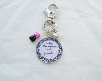 Cabochon mum bag charm is great