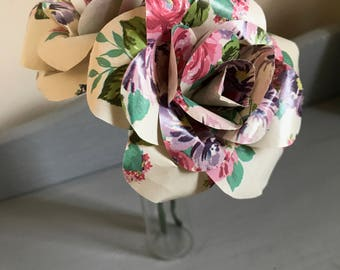 Handmade Paper Flowers Roses Floral Gift