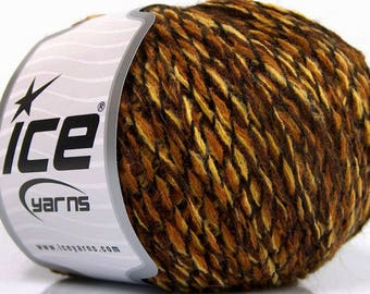 2 Skeins - Yellow, Gold, Brown, and Black Yarn