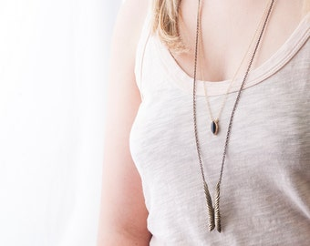 Bronze Soaring Wings Necklace | Layering Necklace | Nature Inspired Necklace