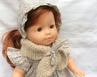 Beige scarf for 36 to 42 cm doll