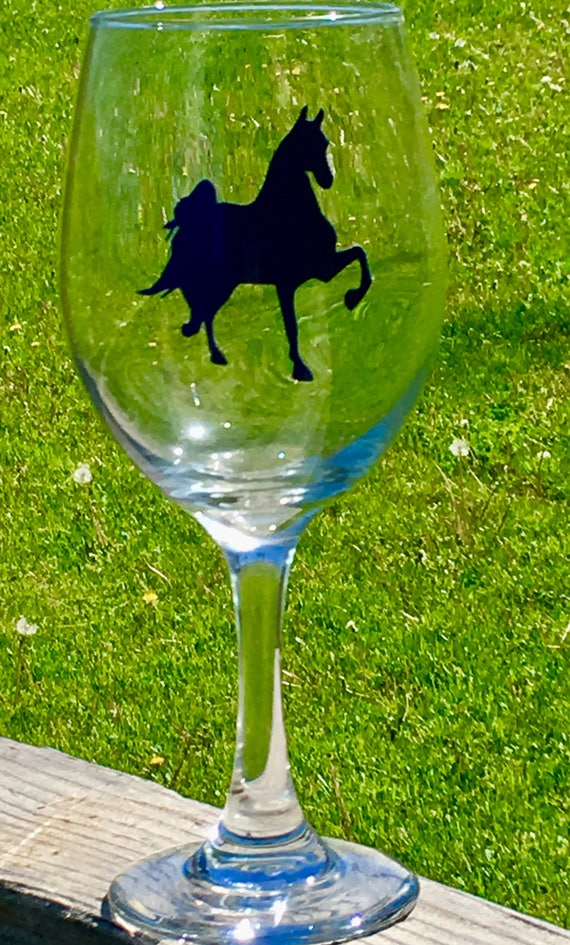 Saddlebred Wine Glass, Horse Gift, Birthday Gift