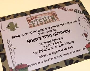 Fishing Birthday Invitations