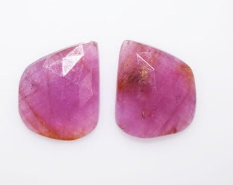 8 Ct. 1 Pair Beautiful Natural Sapphire Rose Cut Fancy Shape Loose Gemstone-Sapphire Loose Gemstone , 10 x 13 mm , LG718