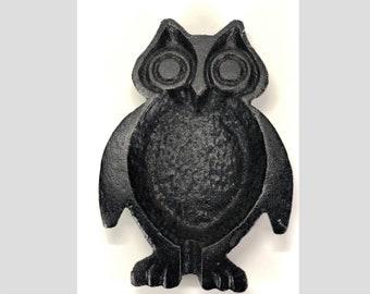Cast Iron Owl Ashtray
