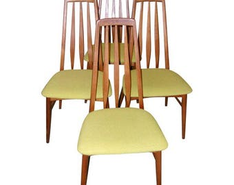 Set of Four Danish High-Backed Dining/Side Chairs Designed by Niels Kofoed.