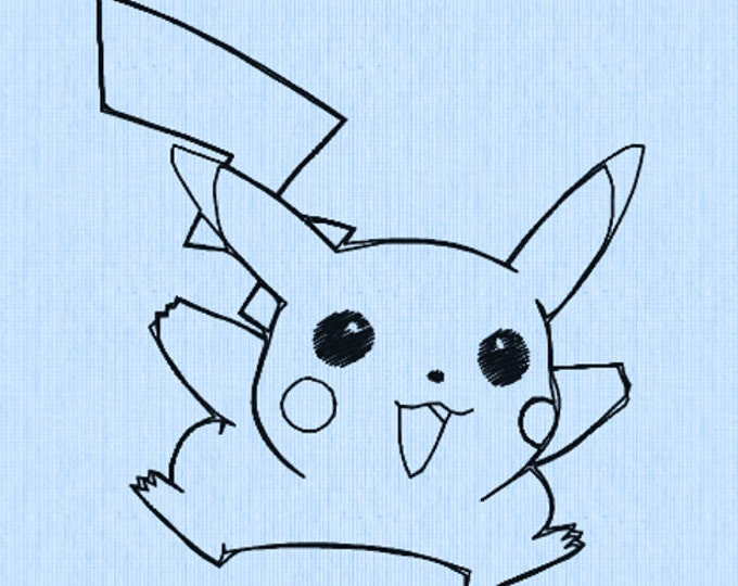 Pikachu Embroidery Design