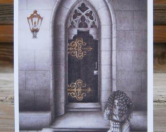 "Close Every Door, Mandragora Scream, Art Card, postcard, high quality art print DIN A6 (10,5 cm x 14,8 cm / 4.13"" x 5.83"")"