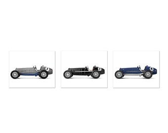 FLASH SALE til MIDNIGHT Vintage Toy Race Cars Blues Greys and Blacks, Set of  Three Canvas Prints, Boys Room decor, Vintage car prints Race
