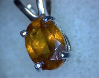 Stunning Hessonite Garnet Pendant
