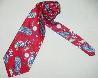 Golf Club Necktie,Golf Bag Necktie,Golf Ball Necktie, Golf Necktie, 3 Colors