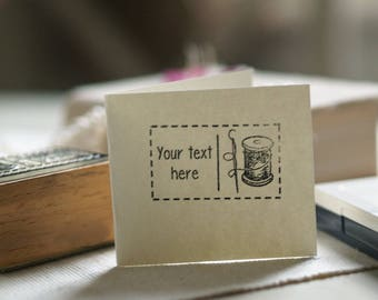 Rubber Stamp for knitting with your custom text