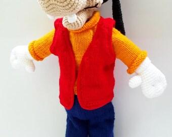 Crocheted Goofy dog Disney Amigurumi stuff toy