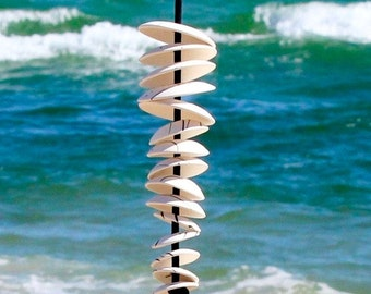 Wind chimes, garden sculpture, Custom Made, Ceramic and Pottery,  garden decoration or home decor,  home and living, outdoor and gardening