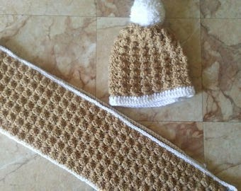 The Gingerbread Scarf and Hat Set