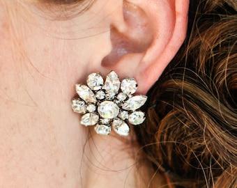 Bridal Earrings Vintage Style Earrings Rhinestone Bridal Earrings Bridal Stud Earrings Statement Bridal Earrings crystal earrings SAVANNAH