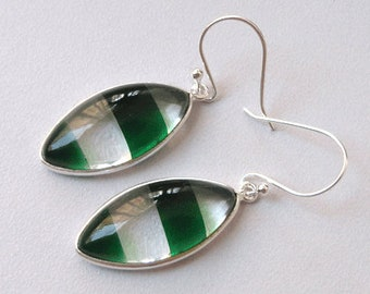 Clear Quartz Earring Green Marquise 925 Sterling Silver Bezel Cheap Wholesale Handmade Jewelry India  # 12162