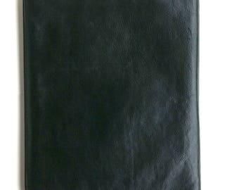 PORTEFEUILLE en cuir italien avec fermeture éclair 16 1/2 X 12 pouces