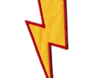 Lightening lightning Bolt Patch, Any Color Combo! Custom Made! AP32