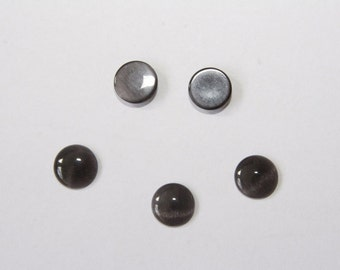 10PCs  Cateye Cabochons / black / 10 mm    C033