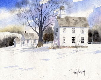 Country Church-Print from an original watercolor painting