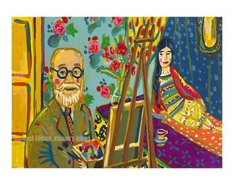Matisse in His Studio • art print • giclee • henri • floral • zita • model • whimsical • post impressionism • portrait • art history • gift