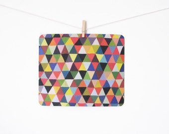 mousepad / Mouse Pad / Mat - Black Geometry Triangles