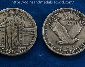 USA 1916 Standing Liberty Quarter COIN COPY