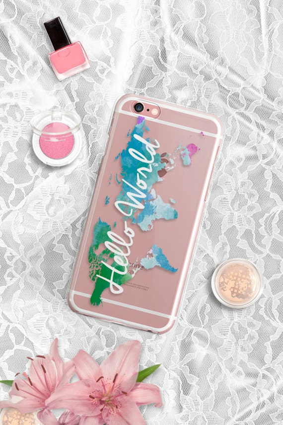 iPhone 7 case Clear iPhone 7 Plus case Hello World Map iPhone SE case Clear iPhone 6 plus case Rubber iPhone 6 Case Clear iPhone 6S Case