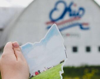 Ohio state vinyl car decal - home state pride sticker - Ohio car sticker - vinyl sticker - Ohio state bumper sticker - home grown sticker