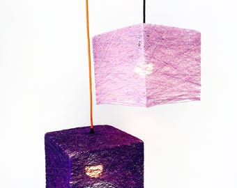 "Plug in Nordic pendant light - Pendant lamp nordic style - Contemporary pendant lamp - Handmade decorative lamp - CUBE (12 ""-30 cm)"