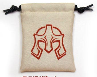 Fighter Fantasy RPG Mini Drawstring Dice Pouch, Colour Symbol