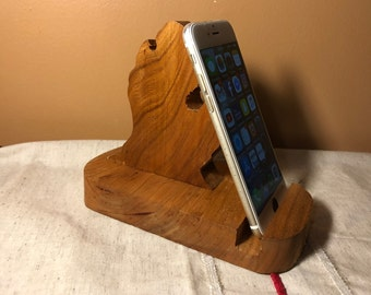 Michigan Phone Holder Cherry Wood