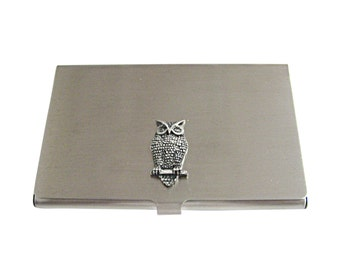 Perched Owl Business Card Holder