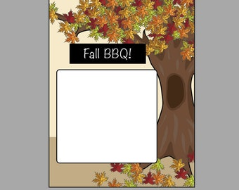 Fall BBQ - Flyer Template by chaoticneutralish