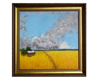FIELD of WHEAT original oil canvas painting