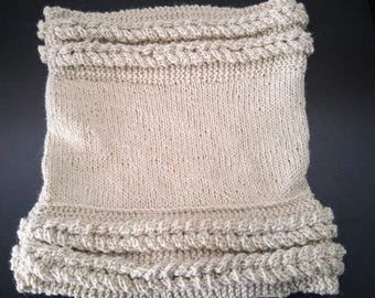 Knitting pattern - neck double braid - a neck warmer pattern - download PDF document