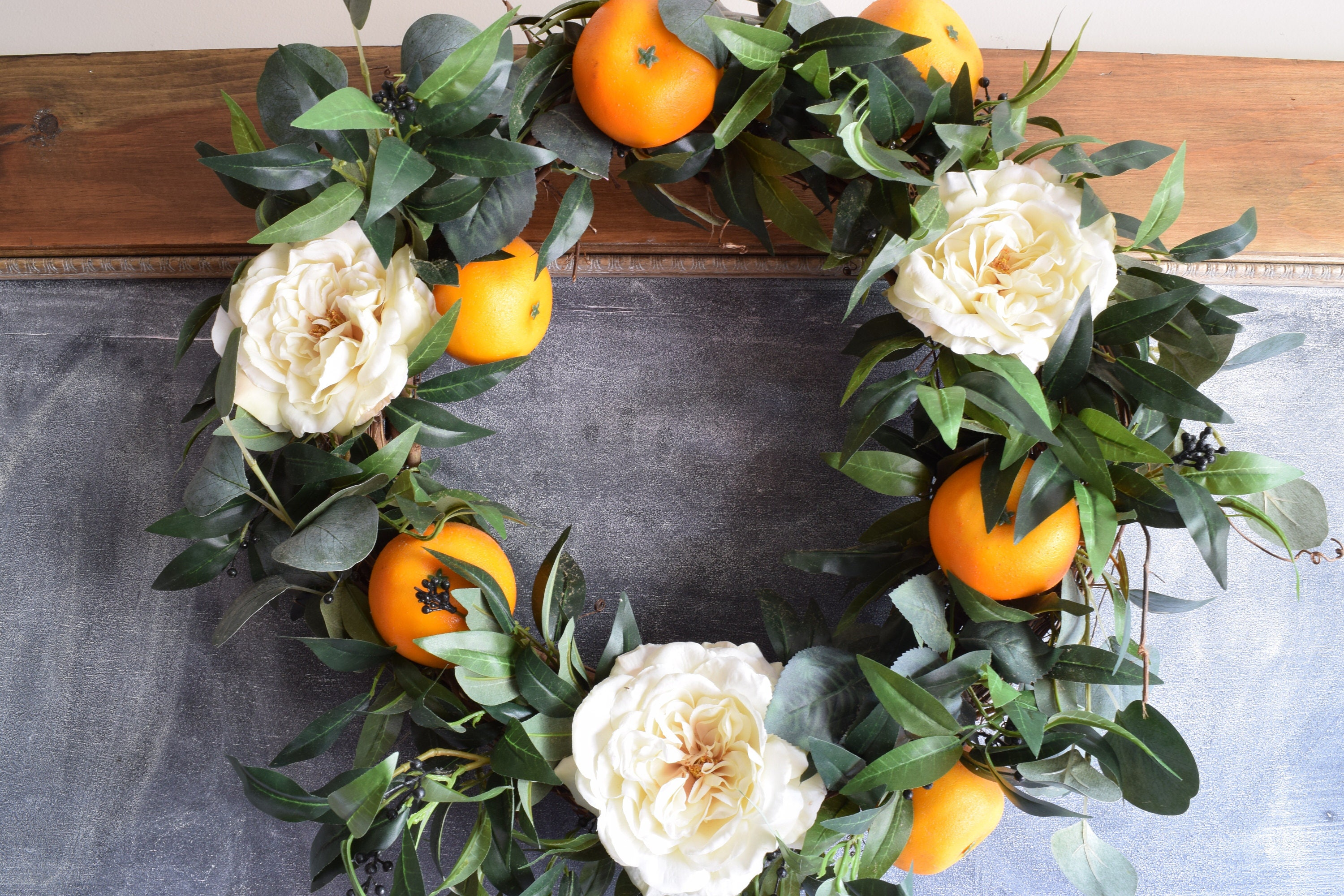 The Grove Wreath, Spring Wreath, Front Door Wreath, Wedding Wreath, Floral  Wreath, Wedding Florals, Orange Wreath