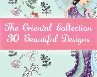Colouring Designs - The Oriental Collection