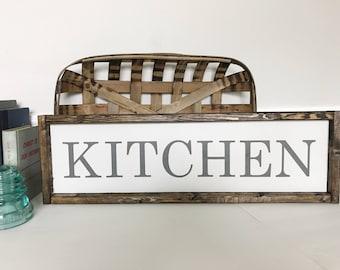 Kitchen Sign, Kitchen Wall Decor, Kitchen Art, Farmhouse Wall Decor, Rustic Wood Sign, Fixer Upper Style